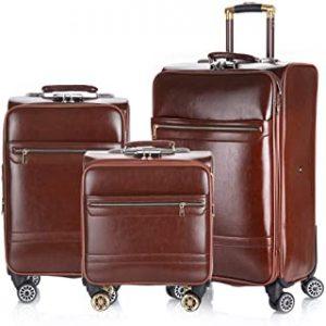 CaoDquan PU Lederen kofferset